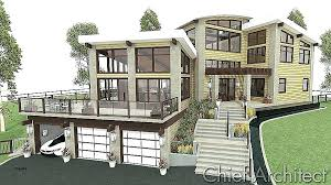 home plans for sloping lots hillside cabin plans house plans for sloped land best of baby