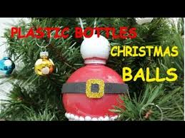 Plastic Christmas Ornaments To Decorate by Diy Christmas Crafts Ideas Plastic Bottle Christmas Balls
