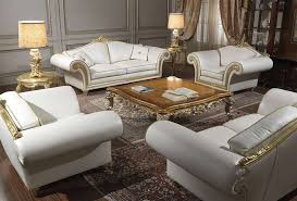 Classic Livingroom by Imperial Classic Living Room In White Leather Vimercati Classic