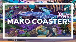 Seaworld Orlando Park Map by New Mako Roller Coaster At Sea World Orlando Youtube