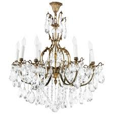 Adam Wallacavage Chandeliers For Sale by Gilt Bronze Eight Arm Crystal Chandelier From France Frances O