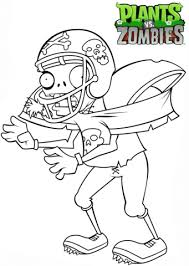 plants zombies football zombie coloring free printable