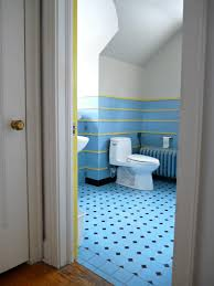 Blue And Yellow Bathroom Ideas View In Gallery Tiled Walls Bring In Various Shades Of Yellow And