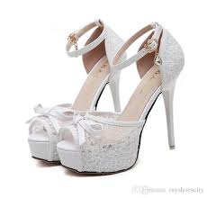 white lace wedding shoes adorable bowtie black white lace wedding shoes bridal high heels