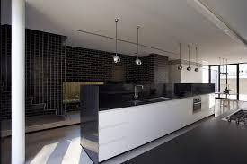 elegant modern interior design of the luxury kitchen black and