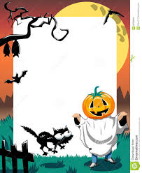 halloween kid clipart halloween photo frame kid phantom vertical stock vector image