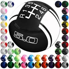 mustang 6 speed mustang shift knob 2 1 8 rally w 6 speed and 5 0 logo 2011 2017