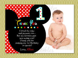 mickey mouse thank you card