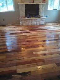 floor made from pallet boards that had the nails taken out and