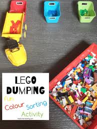 lego dumping colour sorting teach me mommy