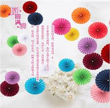wedding backdrop taobao single three dimensional origami flower paper fan fan flower stage