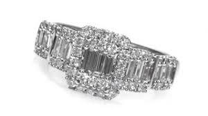 baguette ring 1 ct t w multi baguette diamond frame ring in 14k white gold