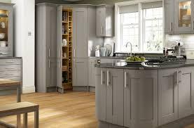 grey timber shaker kitchen somerset range benchmarx