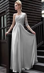 silver wedding dress a line silver grey sleeves women dresses evening 30580 buy