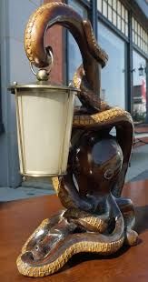 carved octopus lamp by aldo tura