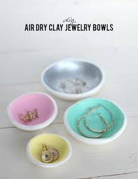 diy air dry clay jewelry bowls on aliceandlois com