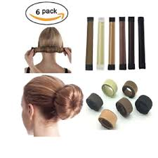 hair bun maker 6 pcs diy women hair bun maker twist donut bun hairstyle