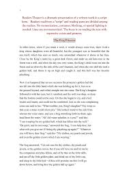 readers theater dramatic presentation written