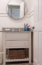 striking powder room vanities contemporary with chrome plated