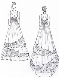 janay a handmade 2011 eco wedding gown design preview sketch