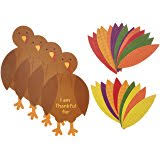 festive fall thanksgiving turkey craft kit toys