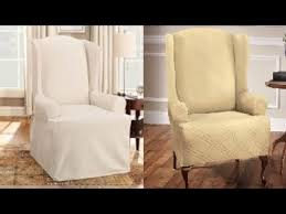 Slipcover Wing Chair Slipcover For Wingback Chair Youtube