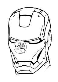 Man Mask Coloring Pages For Kids Printable Free Coloring Page Iron