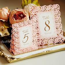 Wedding Invitation Card Sample Pdf Roses Lace Wedding Table Number Floral Cards Template Svg