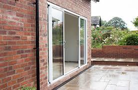Aluminium Patio Doors White Aluminium Sliding Patio Door 17 Ft Foot Four Pane 5090mm