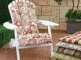 Striped Patio Chair Cushions by Patio 46 White Rocking Chair With Striped Sunbrella