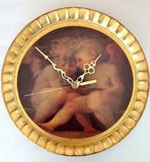 popular items for wall clock vintage on etsy hand painted