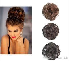 black hair bun woman chignon buns curly synthetic hair bun extension