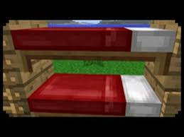 Minecraft How To Make A Bunk Bed YouTube - Minecraft bunk bed