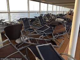 footage inside royal caribbean cruise ship during storm daily