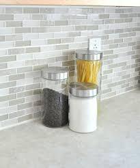 Glass Tile Backsplash Medley Of Gray Green Glass Clear Glass - Gray glass tile backsplash