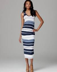 blue and white striped maxi dress naf dresses