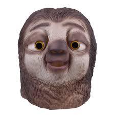 aliexpress com buy zootopia sloth mask latex full face head