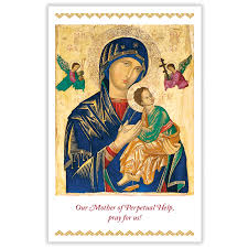 prayer card the redemptorists our of perpetual help prayer card with