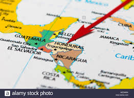 Cuba South America Map by Red Arrow Pointing Honduras On The Map Of South America Continent