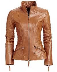 light brown leather jacket womens women s stylish tan brown leather jacket with quilted patches