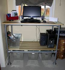 computer standing desk with adjustable shelf storage simplified Desk With Computer Storage