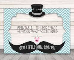 baby shower mustache printable baby shower or birthday party photo booth