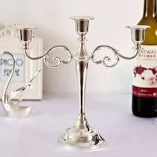 silver centerpieces large wedding silver candelabra centerpieces european style iron 3