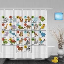 Baby Bathroom Shower Curtains by Aliexpress Com Buy Cartoon Alphabet Letters Design Kids Shower