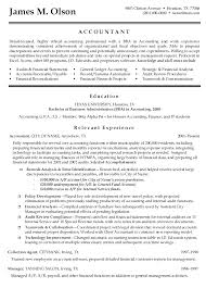 entry level accounting resumes examples entry level accountant