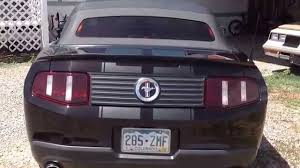 Black Mustang Stripes Lava Red Mustang With Matte Black Racing Stripes Youtube