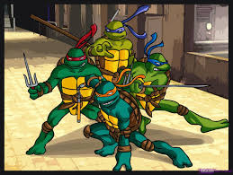 draw donatello ninja turtles cartoons easy step step
