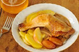 recette de cuisine poulet cuisses de poulet au cidre et aux pommes cuisine à l ouest