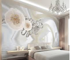 3d Wallpaper For Bedroom by Customize 3d Mural Wallpaper European Style 3d Silk White Flower
