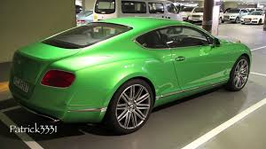 bentley limo black bentley continental gt w12 in lime green youtube